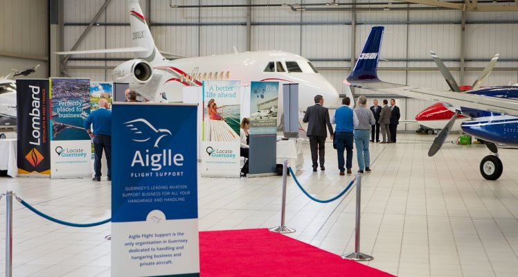 Aiglle Flight Support's unique event welcomes top aviation brands to Guernsey
