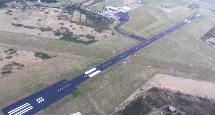 Alderney Airport aerial view