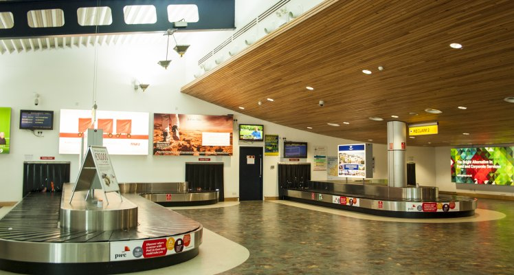 Arrivals Hall Guernsey Airport