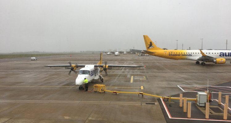 Aurigny Dornier on stand at Guernsey Airport