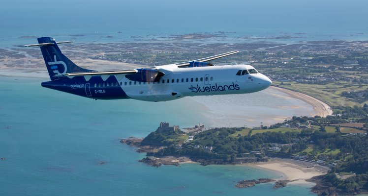 Blue Islands ATR in new livery