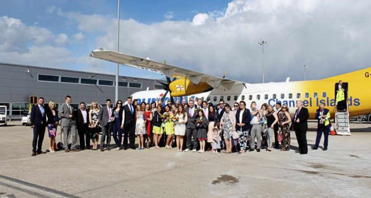 A highly unusual wedding, courtesy of Aurigny