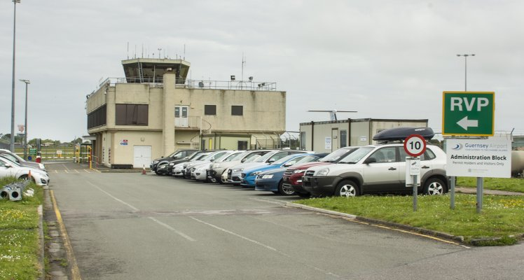 Driving and Parking at the Airport Control Tower building