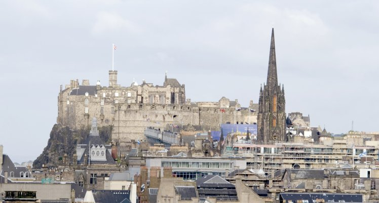 Edinburgh Castle, and city skyline