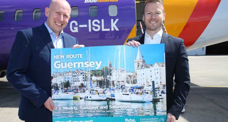 New Blue Islands Guernsey – Liverpool takes off!!