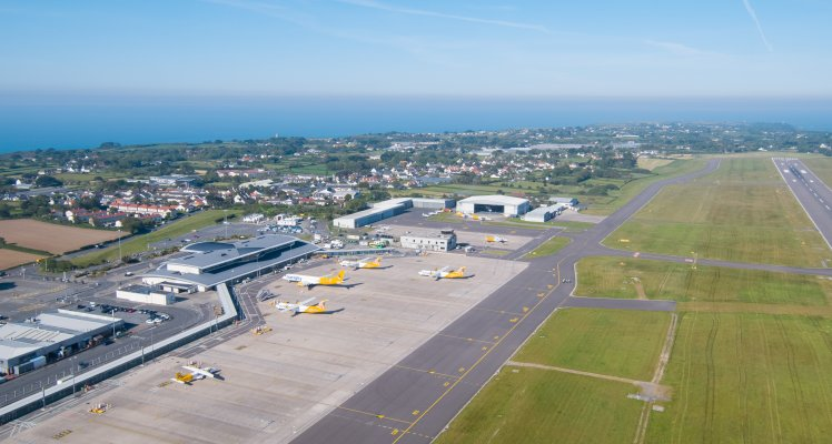 Guernsey Airport from the sky