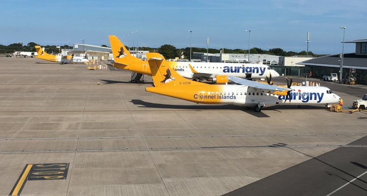 Aurigny planes on Guernsey Airport apron