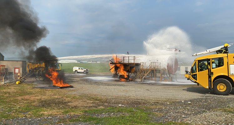 Isle of Man Airport fire appliance on training excercise