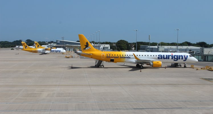 Aurigny Planes on Apron