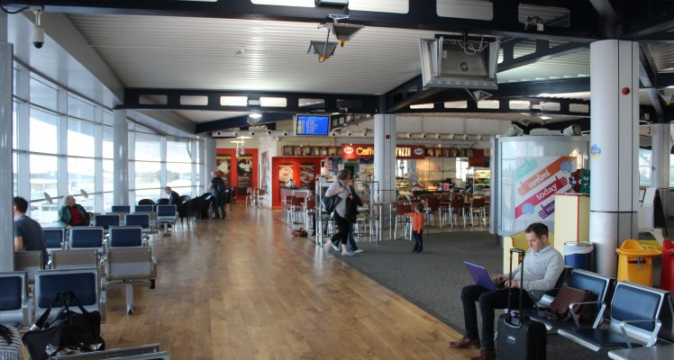 Landside cafe, Guernsey Airport