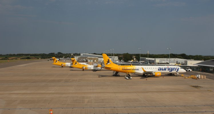 Aurigny planes on apron at Guernsey Airport