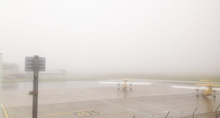 Fog in the Channel Islands for next 48 hours - potential flight disruption