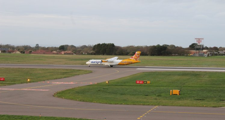 Aurigny ATR at Guernsey Airport