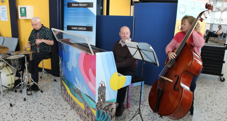 Piano Project Unveiling – Airport Terminal
