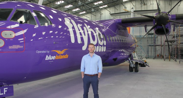 First Blue Islands aircraft in Flybe livery