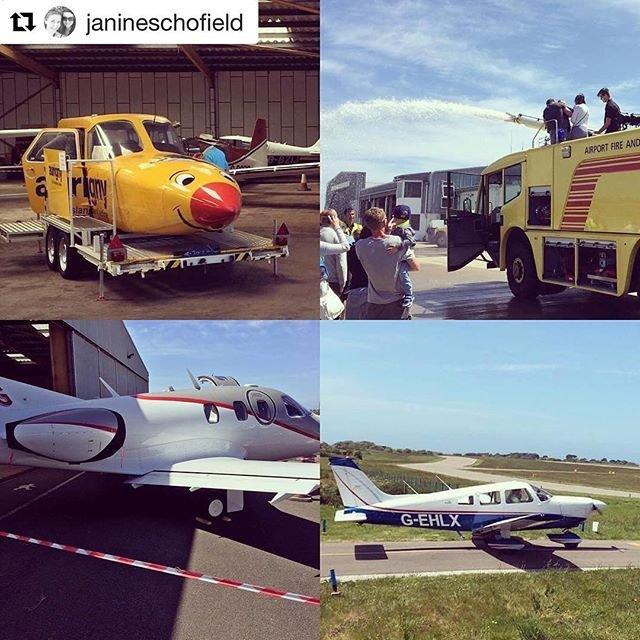 The #Guernsey Aero Club held their 2017 Open Day yesterday! A few familiar faces could be seen... including Aurignys #Joey, Guernsey Fire Service, GA and a special visit from private jet #Eclipse550