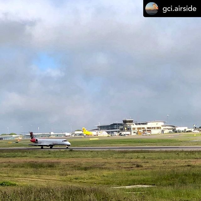 Posted withrepost  gci.airside Loganair GSAJC  E145 arrival into Guernsey EGJB from Glasgow EGPF#guernseyairport #avgeek #airport #egjb #aviationgeek #aviationphoto #aircraft #travel #aviation #aviation4u #avpic #jetpic #guernsey #airplane #e145 #embraer #embraer145 #loganair #scotland #newroutes