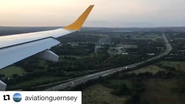 #Repost aviationguernsey with getrepostTimelapse of the Embraer landing at Gatwick. Itll be a long time before Im on this again! Off to uni now.