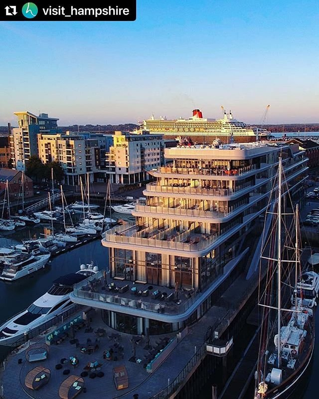 #Repost visithampshire with makerepostCheck out this fantastic shot taken by dronelad of Southamptons Ocean Village including the brand new southamptonharbourhotel and cunardlines Queen Mary 2 in the background. Planning a city break to Southampton? Visit our website for ideas and inspiration link in bio. #Repost dronelad#dronelad #dji #dronestagram #hampshire #dronephotography #southampton #visithampshire #city #visitengland #omgb #travel #travelphotography #aurigny #blueislands #flybe
