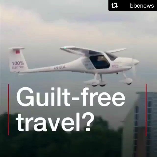 #Repost bbcnews with getrepostNo exhaust fumes and no noise pollution. This electric plane has taken to the skies as part of Norways plan to combat climate change. The BBCs Roger Harrabin tested out the new mode of transport and found out about the countrys plans to get more people using boats and cars powered by batteries. #renewableenergy #electric #electricpower #transport #travel #bbcnews