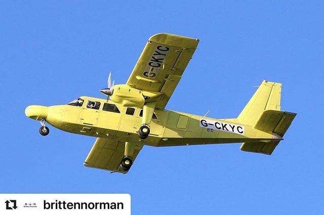 #Repost brittennorman with makerepostGreat photo of the latest Islander during its first test flight. Photo credits Terry Coombes #brittennorman #brittennormanislander #islanderbuild #aviation #aerospacemanufacturing