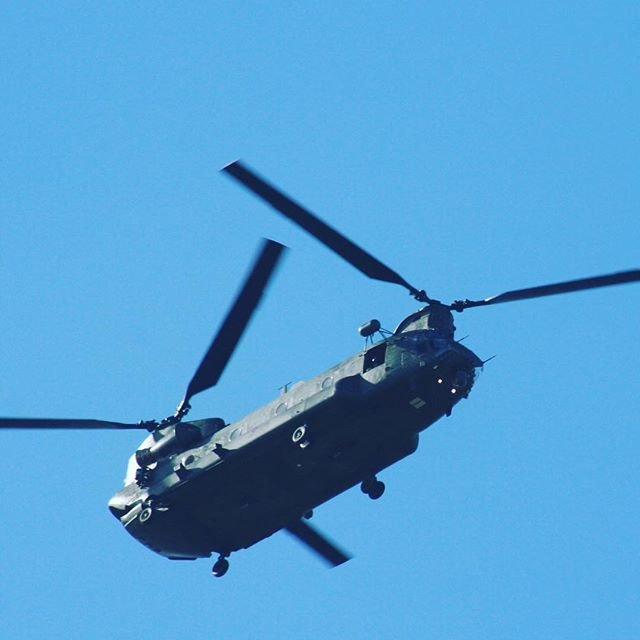 Wokka alert! Watch out for the Chinook from RAF Odiham flying local cadets along the West Coast today. Give them a wave as they pass!