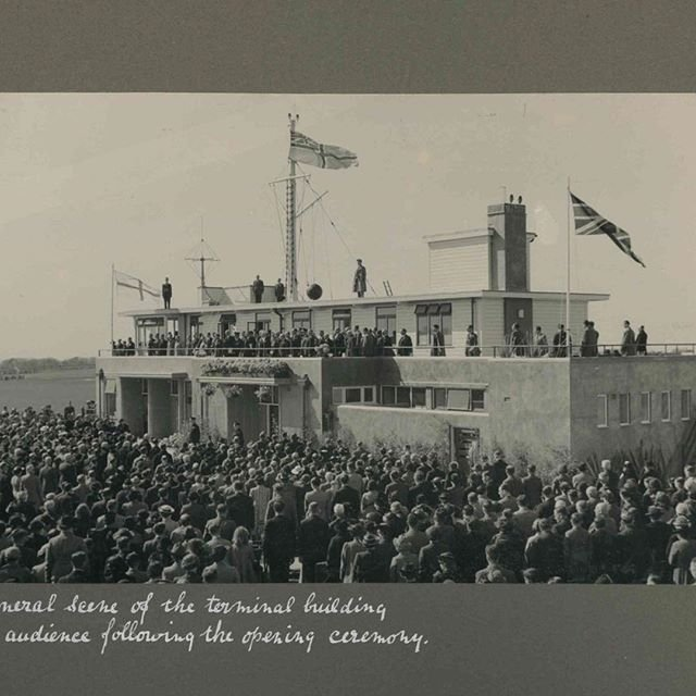 Today Guernsey Airport is 80 years old. The terminal and the then grass airfield were formally opened on the 5th May 1939. #happybirthday #guernseyairport #aviation #aviationhistory #1939 #onthisday #otd
