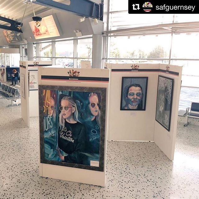 #Repost safguernsey with getrepostQuick pause to reflect before moving on to the library on a fabulous 2018 Airport Exhibition  a huge thank you to our generous exhibition sponsors Kleinwort Hambros!
