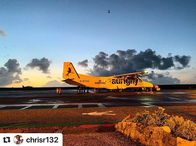 #Repost chrisr132 with makerepostEarly morning commutes by plane...#aurigny #myaurigny #alderney #earlymorning #earlystarts #plane #aeroplane #dornier #commute #flyingstart