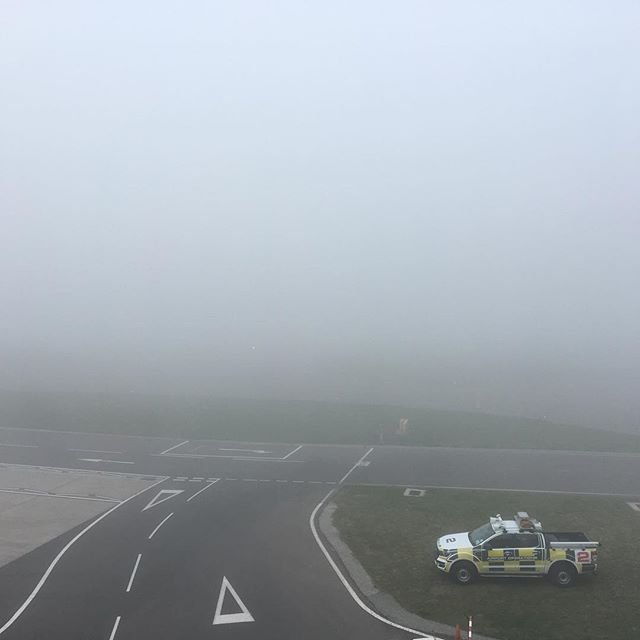 Very #foggy weather at #guernseyairport #peasoup #fog