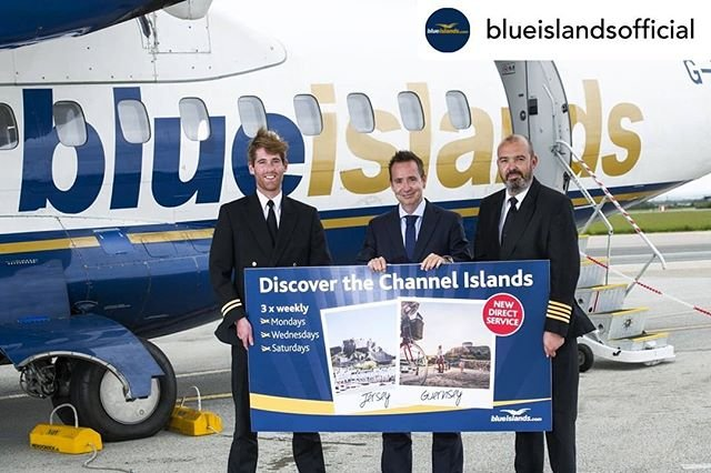 Posted withrepost  blueislandsofficial Today was the start of Blue Islands exciting new service between Guernsey / Jersey and cornwallairport which operates three times per week on Mondays, Wednesdays and Saturdays throughout the summer until 31 August..Discover Cornwall this summer, whether its enjoying Michelin star dining, taking in the incredible backdrop of the hit TV series Poldark or the pretty Cornish harbours..Book now at flybe.com. Route operated by Blue Islands, Blue Islands is a Flybe franchise partner. .#guernseyairport #guernsey #Jersey #Jerseyairport #Cornwall #Cornwallairport #newroute #visitguernsey #visitjersey #visitcornwall #greathings #theislandbreak #atr #atr72 #channelislands #staycation #fly #mybi guernseyairport portsofjersey