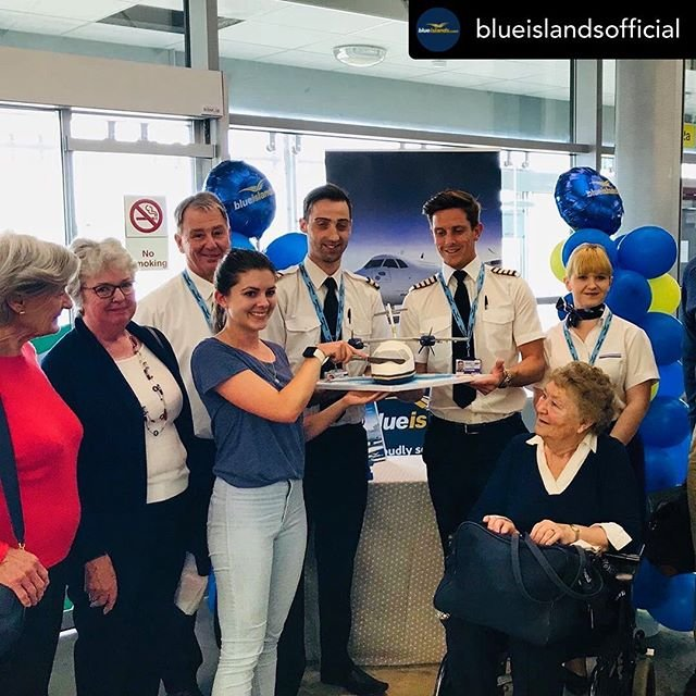 Posted withrepost  blueislandsofficial Today there are over 200 customers flying on the new Blue Islands services from Guernsey to London Southend and from Guernsey to Liverpool  we look forward to welcoming everyone onboard our new services and we celebrated by offering our passengers some fizz and delicious cake...#guernseyairport #guernsey #liverpool #liverpoolairport #london #londonsouthendairport #newroute #visitguernsey #atr #atr72 #channelislands #staycation #fly #mybi#visitguernsey #visitliverpool #visitlondon londonsouthendairport lplairport guernseyairport