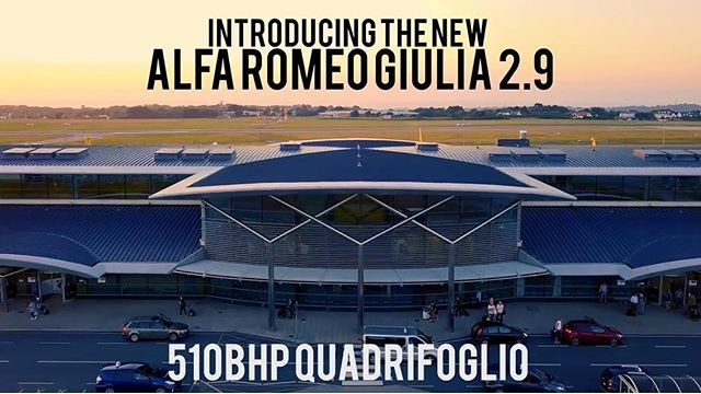We granted special permission for this #drone video of the new Alfa Romeo Giulia to be filmed on the #guernseyairport runway. Its impressive... take a look https//youtu.be/nYYKwsQOUYU