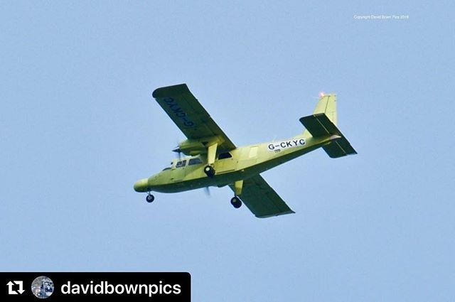 #Repost davidbownpics with makerepostGCYKC BN2B20 Islanders first flight today, spotted over Dartmouth. Its a Channel Islands Air Search aircraft, which is to replace the aircraft that crash landed In 2013.It will have a new livery, and the aircraft has upgraded search equipment amp thermal imaging camera, will enter service in April.#channelislands #brittennormanislander #bn2b20 #searchaircraft #davidbownpics #dartmouth #flyovers #jersey #guernseyairport #lionspride #airsearch #airsearchandrescue