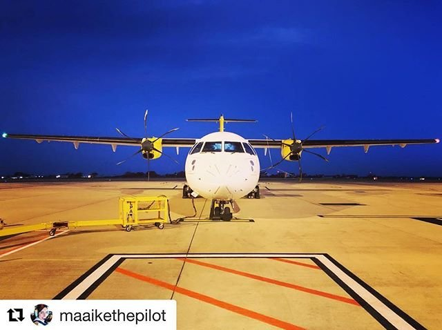 #Repost maaikethepilot with getrepostGood morning from Guernsey! Im off to London Gatwick
