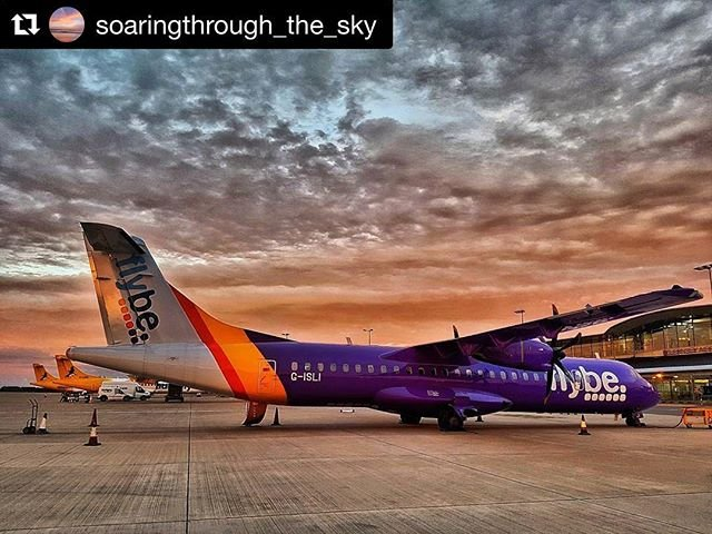 Beautiful sunset at #guernseyairport captured by soaringthroughthesky