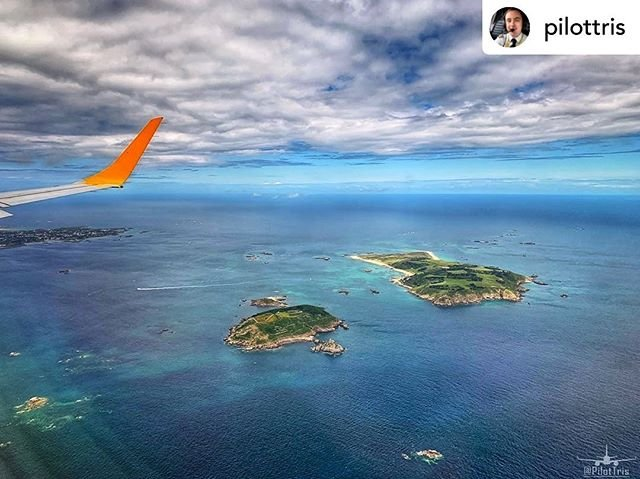 Posted withrepost  pilottris Awesome views of Herm and Jethou today! If you havent visited Herm off the east coast of Guernsey, its a beautiful place to see! The Caribbean style blue water and white sandy beaches with some great walks, its a lovely day out.. Jethou is a private island but still a nice place to see from afar!