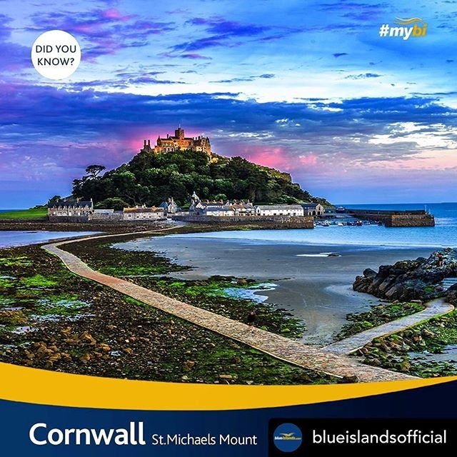 Posted withrepost  blueislandsofficial Discover stunning nationaltrust heritage sites in Cornwall this summer such as St. Michaels Mount. Where you can learn about the ancient sites history and legends. Visit the Barge House to learn what island life is all about on the Mount, with exhibitions detailing life for the community who reside there all year round..Fly to Newquay this summer from Guernsey and Jersey. Book now at https//flybe.com route operated by Blue Islands Mon, Wed amp Sat from 03.06.19  31.08.19. Blue Islands is a Flybe franchise partner..#StMichaelsMount #Cornwall #IslandLife #NationalTrust #ChannelIslands #Guernsey #Jerseyci #Guernseyairport #Jerseyairport #Visitcornwall #Ilovecornwall #CornwallHistory cornwallairport guernseyairport