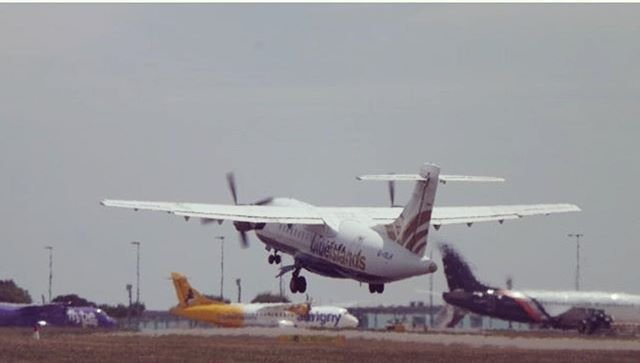 Busy stand and runway at #guernseyairport  Another great image captured by luke.1