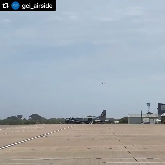#Repost gciairside with makerepost#guernseyairport #avgeek #airport #egjb #aviationgeek #aviationphoto #aircraft #travel #aviation #aviation4u #avpic #jetpic #guernsey #airplane #aviationlovers #aviationphotography #airwaysmagazine #raf #a400m #a400 #airbus