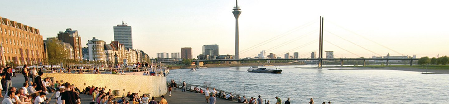 City of Dusseldorf on the River