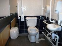 Accessible toilet in departure lounge
