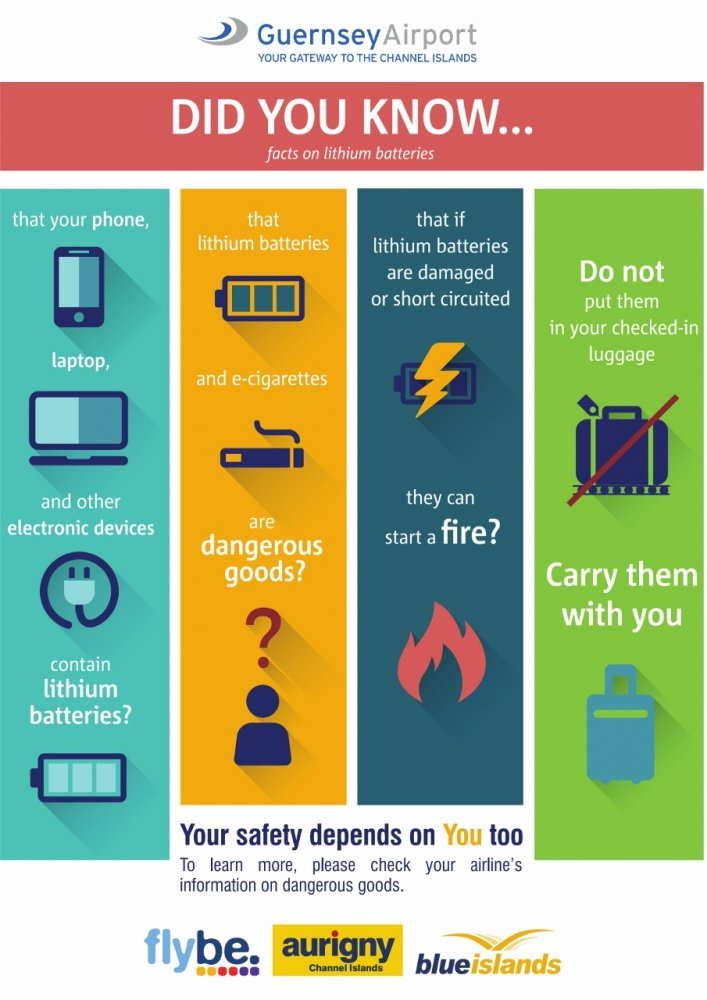 Facts on lithium batteries guernsey airport for Ups dangerous goods